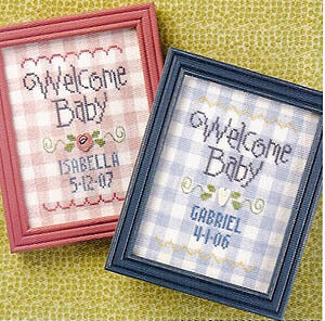 Welcome Baby - Cross Stitch Pattern