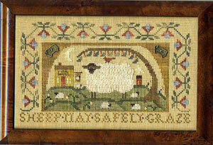 Sheep May Safely Graze - Cross Stitch Pattern