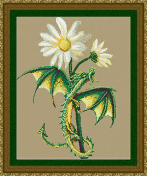 Daisy Dragon - Cross Stitch Pattern