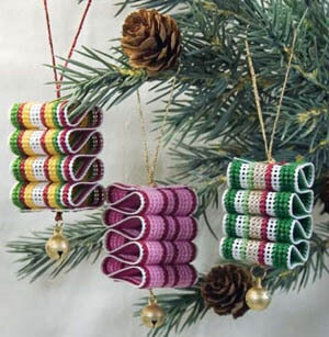 Ribbon Candy Ornament - Cross Stitch Pattern