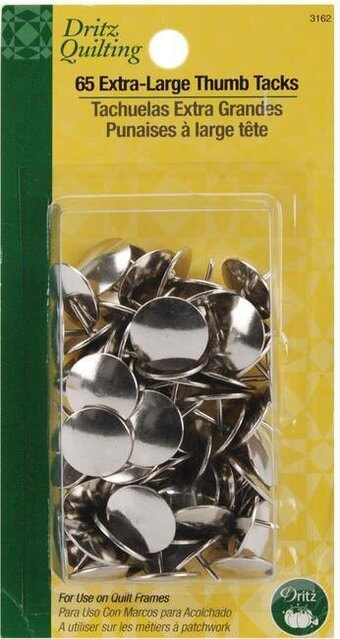 "0.625"" 65/Pkg Dritz Quilting Extra Large Thumb Tacks"