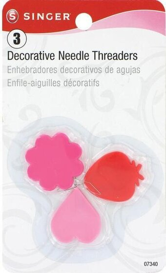 3/Pkg Plastic Decorative Needle Threaders
