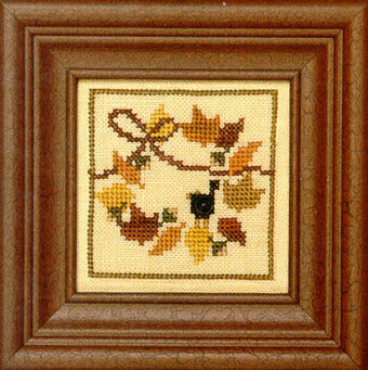 Snappers Red Thread - Wreath - Cross Stitch Pattern