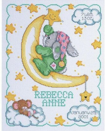 Crescent Moon Birth - Cross Stitch Kit