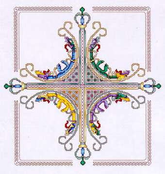 Crown Cross - Cross Stitch Pattern