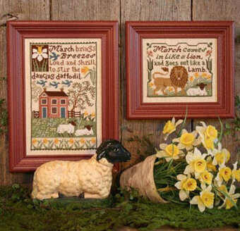 March Daffodils - Cross Stitch Pattern
