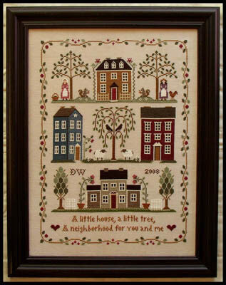 Little House Neighborhood - Cross Stitch Pattern
