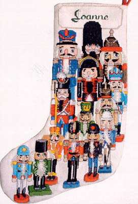 Nutcracker Christmas Stocking - Cross Stitch Pattern