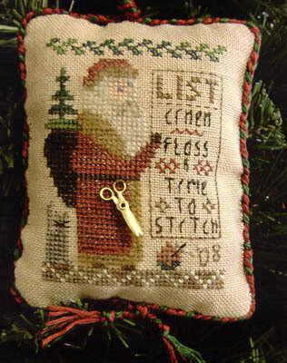 Santa, Please Bring Me... (2008 Ornament) - Cross Stitch