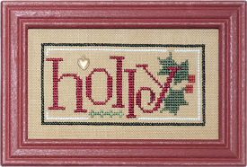 Christmas Spirit Double Flip - Holly/Stocking - Cross Stitch
