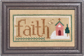 Christmas Spirit Double Flip -Faith/Cheer  - Cross Stitch