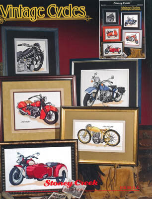 Vintage Cycles - Cross Stitch Pattern