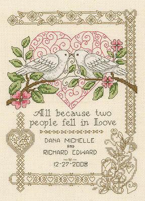 Imaginating Summer Wedding - Cross Stitch Pattern - 123Stitch.com
