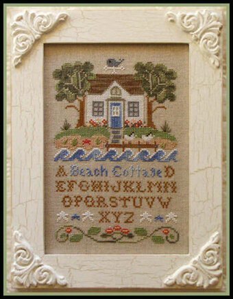 country cottage needleworks beach cottage cross stitch pattern rh 123stitch com country cottage cross stitch kits country cottage cross stitch pinterest