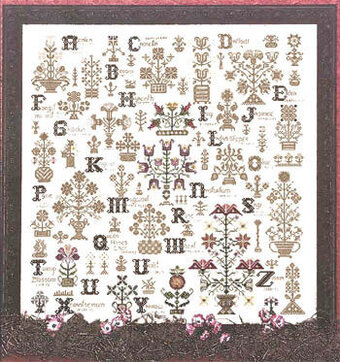 rosewood manor language of the flowers cross stitch