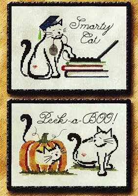 September/October Monthly Britty Kitties - Cross Stitch