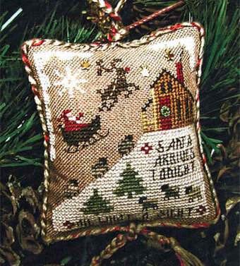 Santa Arrives Tonight (2009 Ornament with embellishment)
