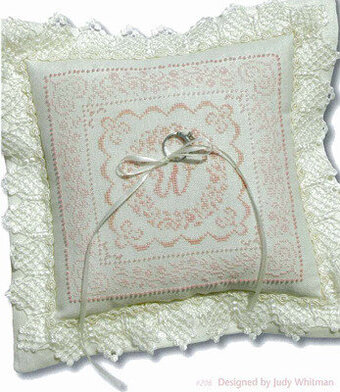 Stoney Creek Wedding Doves Ringbearers Pillow Cross Stitch