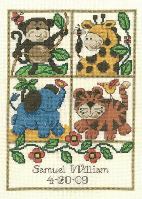 Jungle Baby - Cross Stitch Pattern