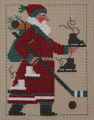 2009 Schooler Santa - Cross Stitch Pattern