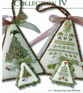 christmas tree collection iv cross stitch pattern - Christmas Tree Designs