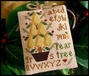 Ornament 2 - Pear Tree - Cross Stitch Pattern