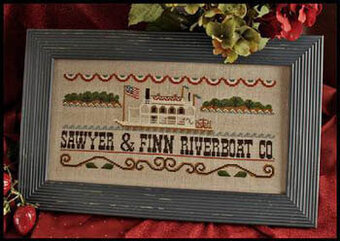 Mississippi Riverboat - Cross Stitch Pattern