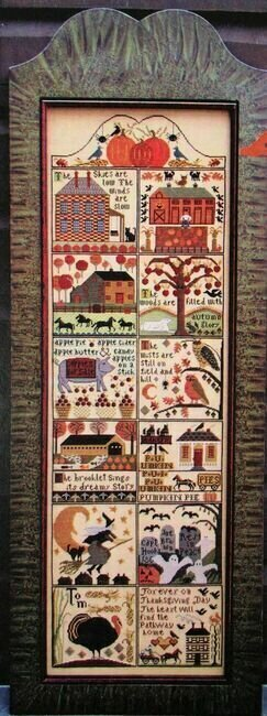 Autumn at Hawk Run Hollow - Cross Stitch Pattern