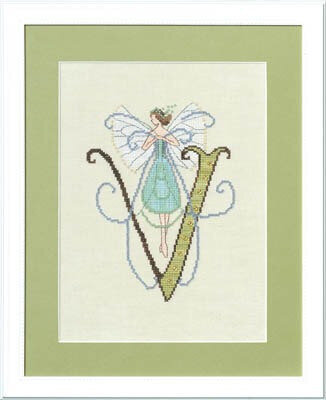 Letters From Nora - V - Cross Stitch Pattern