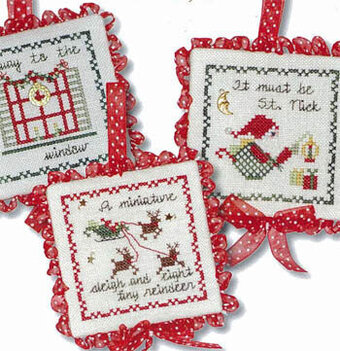 Twas The Night Ornaments II - Cross Stitch Pattern