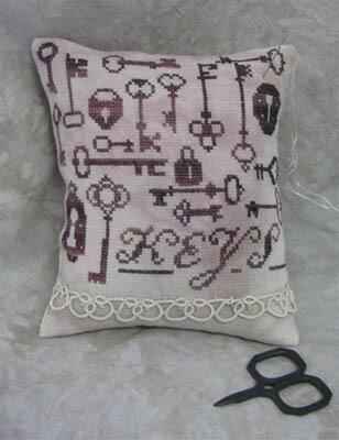 Antique Locks And Keys - Cross Stitch Pattern