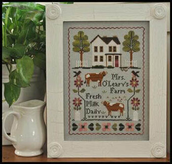 Mrs. O'Leary's Dairy Farm - Cross Stitch Pattern