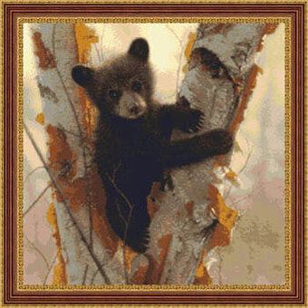 Curious Cub - Cross Stitch Pattern