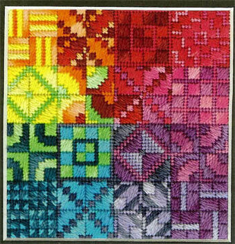 Color Delights Rainbow - Needlepoint Pattern