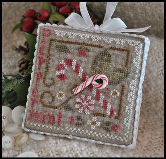 Ornament 9 - Peppermint Twist - Cross Stitch Pattern