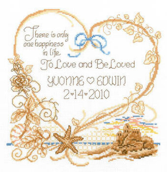 Imaginating Seaside Wedding Cross Stitch Pattern 40Stitch Awesome Cross Stitch Wedding Patterns