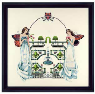 Spring Topiary Garden - Mirabilia Cross Stitch Pattern