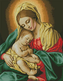 Madonna and Child II (Virgin Mary) - Cross Stitch Pattern