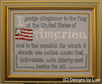 Pledge of Allegiance - Cross Stitch Pattern