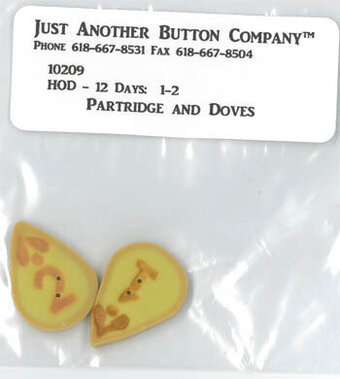 12 Days Partridge & Doves - Buttons