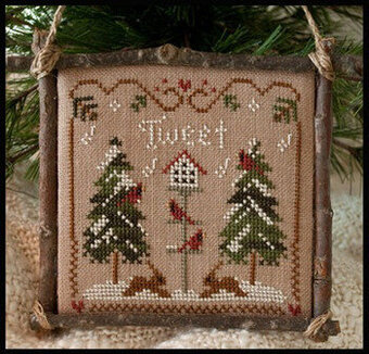 2011 Ornament 1 - Cardinal Winter - Cross Stitch Pattern