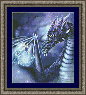Blue Dragon Fairy - Cross Stitch Pattern