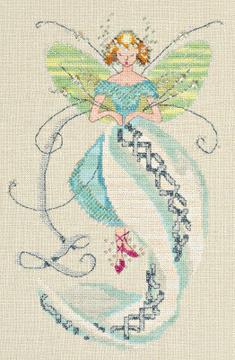 Stiching Fairies Linen Fairy - Cross Stitch Pattern