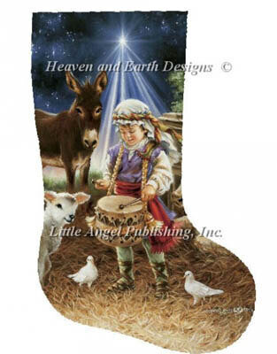 Stocking Little Drummer Boy - Cross Stitch Pattern