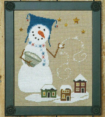 Uber Snowman - Cross Stitch Pattern