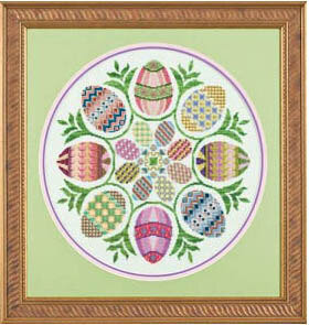Eggs Ala Round - Cross Stitch Pattern