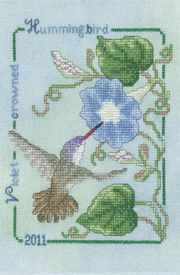 Violet Crowned Hummingbird 2011 - Cross Stitch Pattern