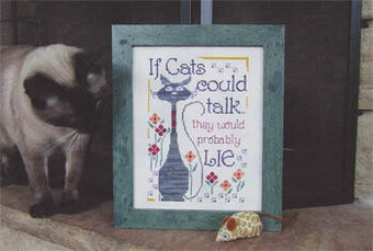 If Cats Could Talk - Cross Stitch Pattern