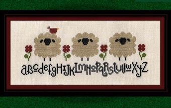Spring Sheep Alphabet  - Cross Stitch Pattern