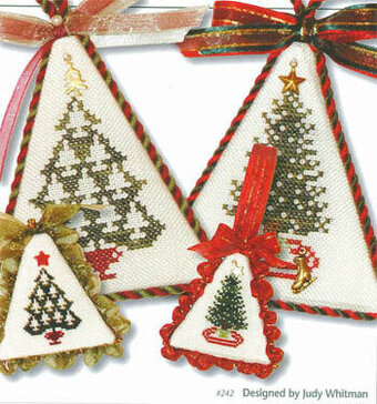 Christmas tree cross stitch card | Yiotas XStitch